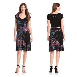 Disigual Black Floral Print Dress